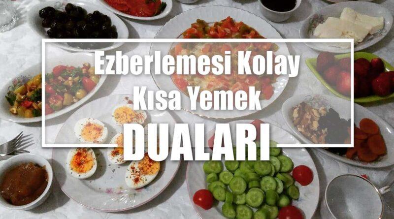 Ezberlemesi Kolay Kısa Yemek Duaları | Türkçe Okunuşları ve Anlamları