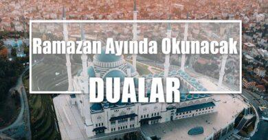 Ramazan Ayında Okunacak Dualar